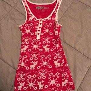 Reindeer Snowflake Red Winter Kirra Tank Top